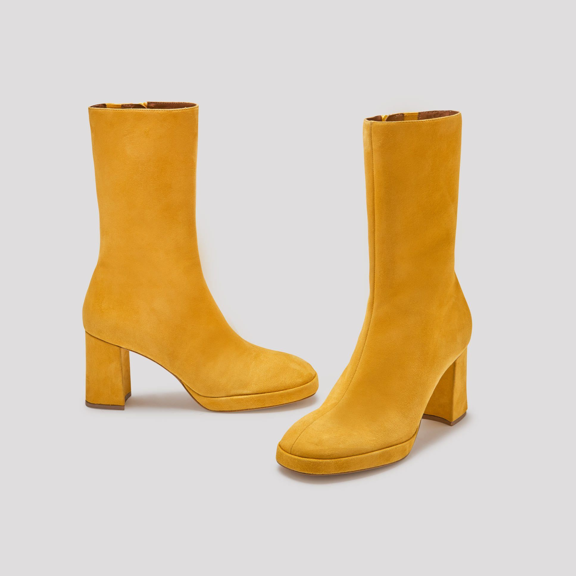 outlet store 7beaa b50dd CARLOTA YELLOW SUEDE BOOTS BY MIISTA