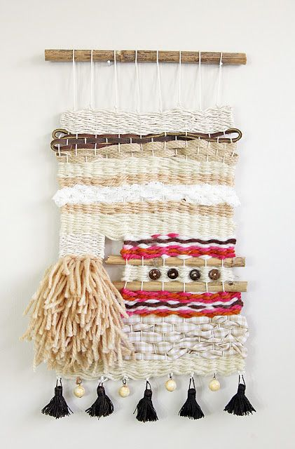 Hi...It's no secret that I love weaving! It's a newly found creative outlet and I was hooked from the very first project, which was actually the Hazel & Ruby Woven Necklace Crafternoon kit.  Weaving is relaxing, super simple, and it's a great project to do with friends.