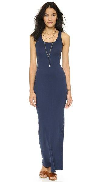 5d77431925 Splendid Ribbed Maxi Dress Navy Dress
