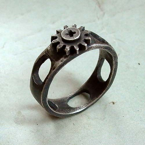 Cap Ring Size 11 Black Sterling Silver By Andyshouse 96 00