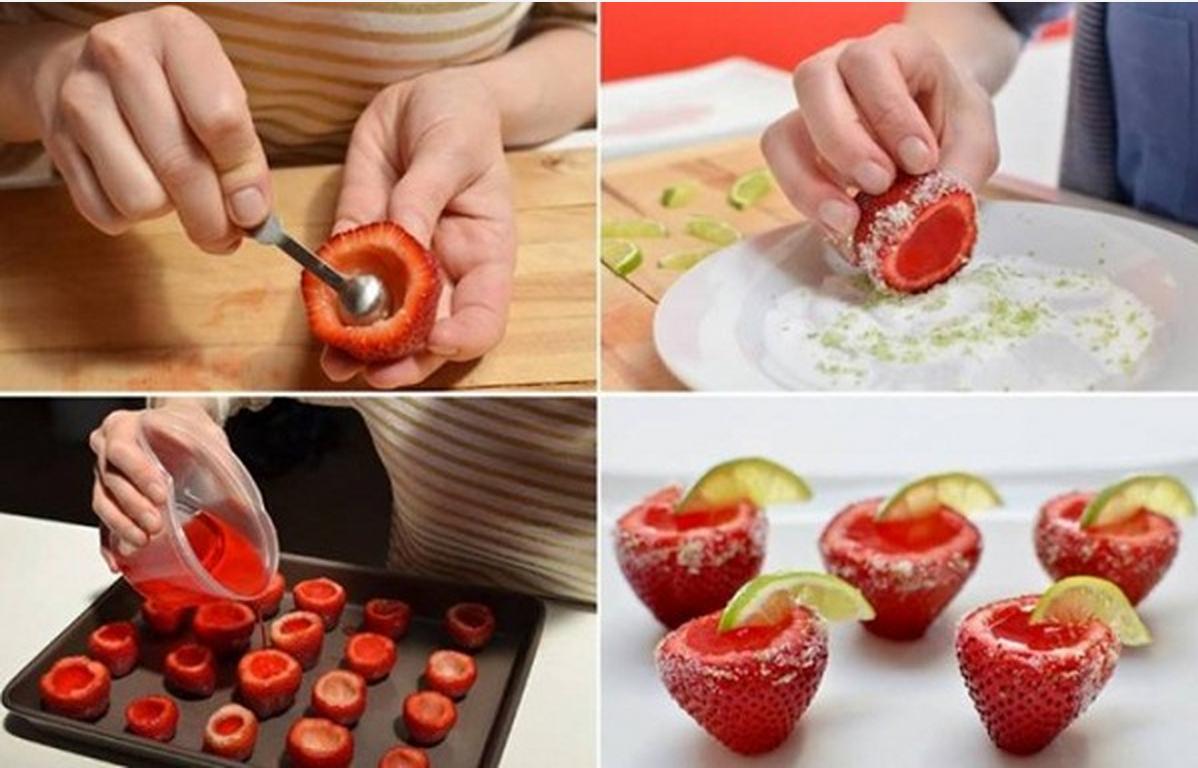 strawberry jello shots