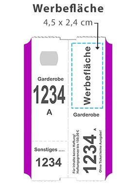 Gastro Werbung Simbeck Garderobenmarken Garderobenticket Garderobennummer Garderobenzettel Garderobe Zettel Und Marken