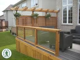 Curved Privacy Screen Decking Patios And Screens