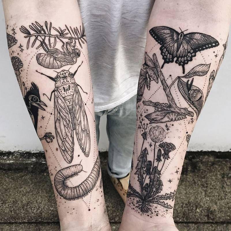 Les Tatouages cosmiques de Faune et de Flore de Pony Reinhardt #tattoosandbodyart