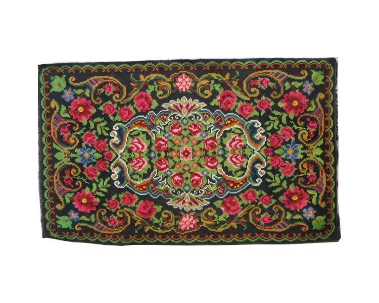 Rozenkelim tapis floral carpet with roses floral rug rose for Alfombras infantiles grandes baratas