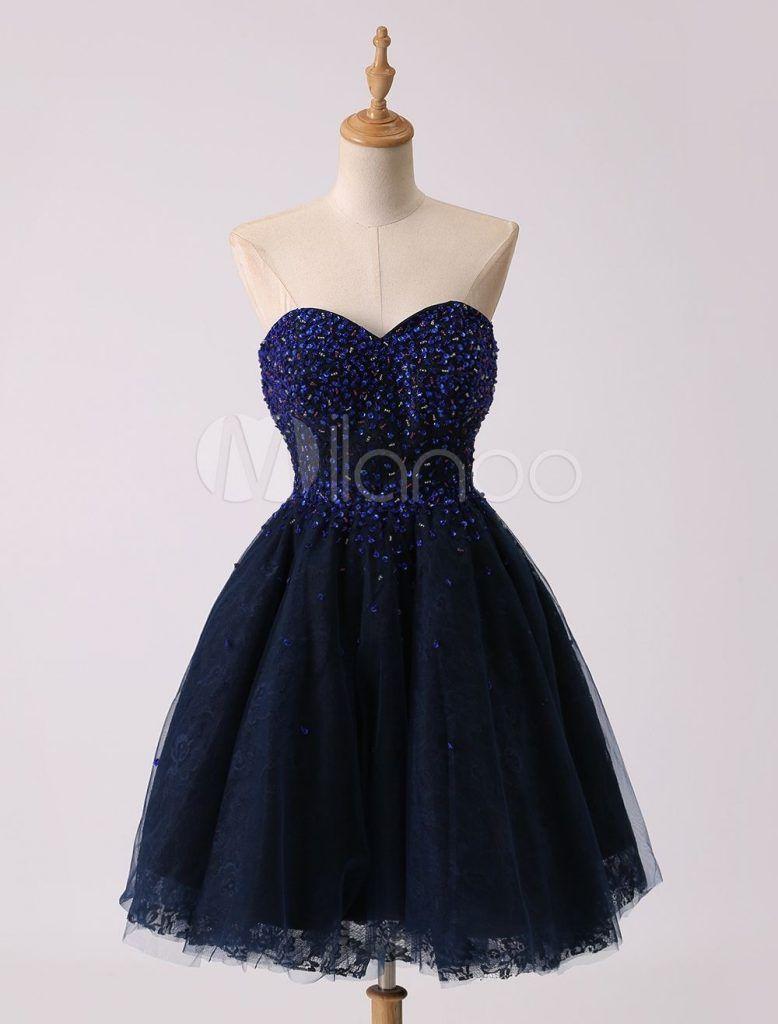 spektakulär dunkelblaues kleid kurz bester preis