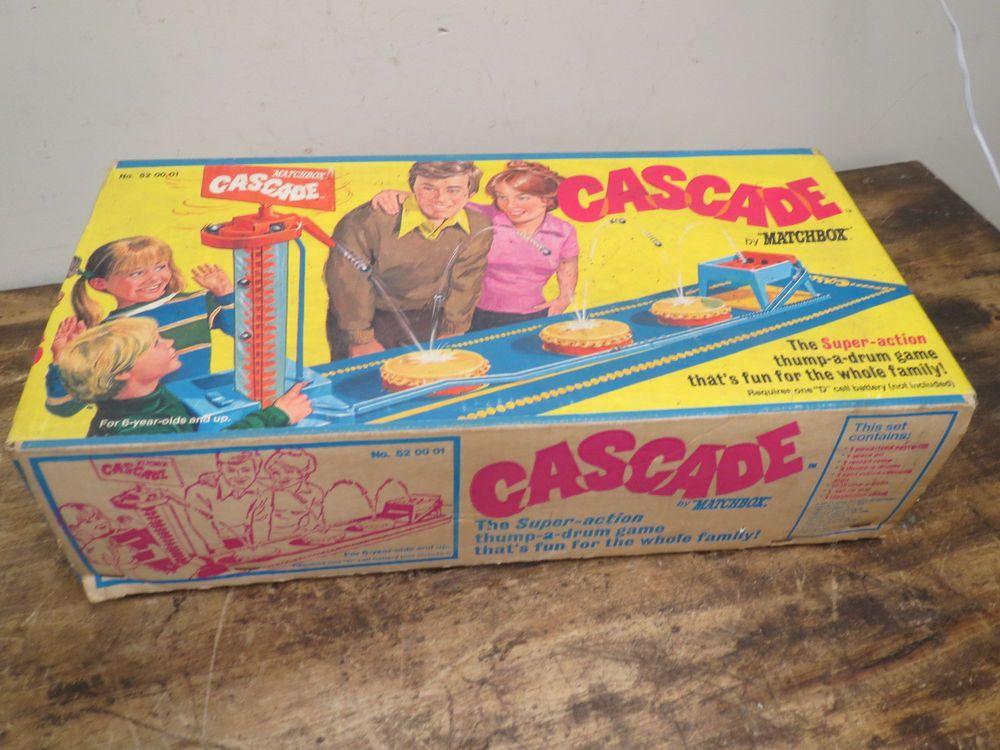 Vintage Matchbox Cascade Family Action Game W Original