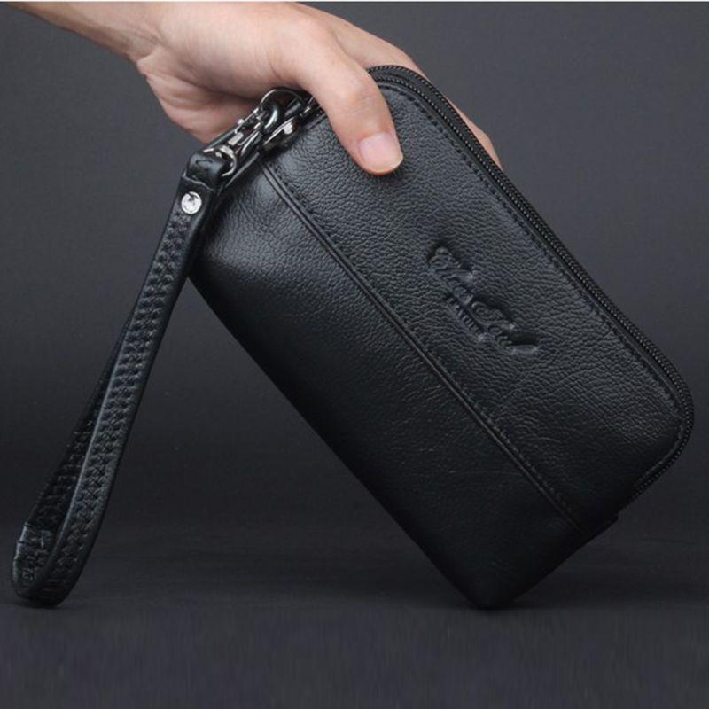 62ae21dd72f8 Genuine Leather Men Small Hand Handy Bag Waist Pack Hip Bum Hook Purse Skin Belt  Mobile