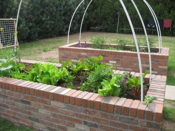 Vegetable Garden Raised Beds, Building A Raised Garden Bed With Bricks
