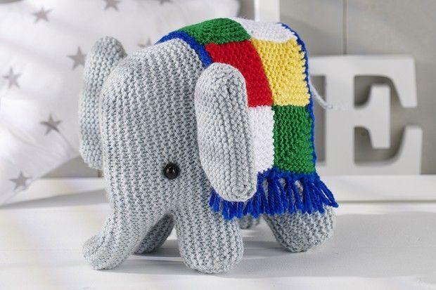Free elephant knitting pattern in 2020 | Animal knitting ...