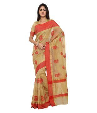 c6ed7142e2daa1 Sarvagny Gold Kanchipuram Saree Price in India - Buy Sarvagny Gold  Kanchipuram Saree Online at Snapdeal