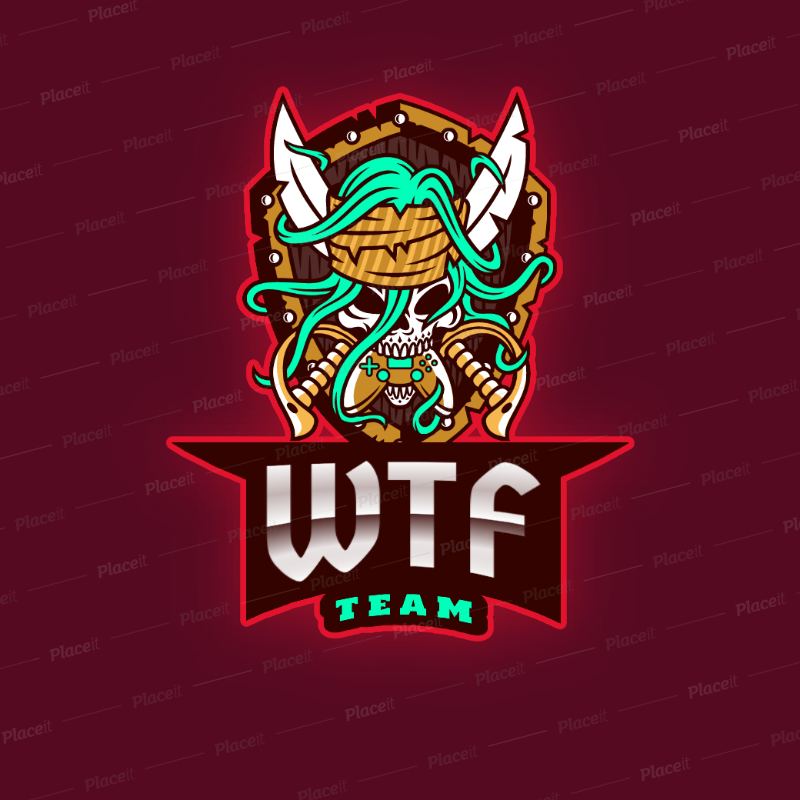Logo Template for a Gaming Squad with a Skull Holding a
