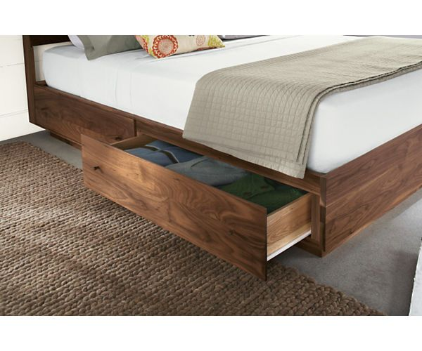 Hudson Bed With Storage Drawers Modern Contemporary Beds Modern Bedroom Furniture Room Board In 2020 Bed Storage Drawers Bed Frame With Storage Bed Design