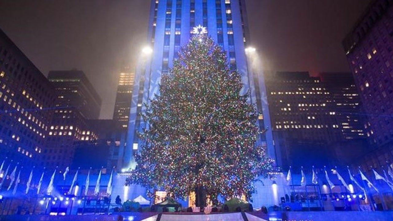 Rockefeller Christmas Tree Lights Up New York   Fox Business   NYC ...
