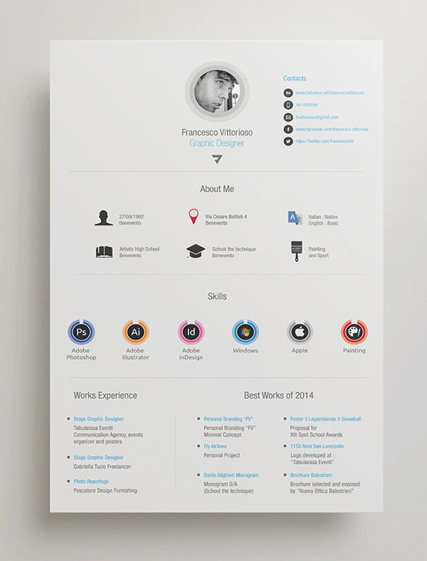 Lovely Free Personal Adobe Indesign Resume (600×788)