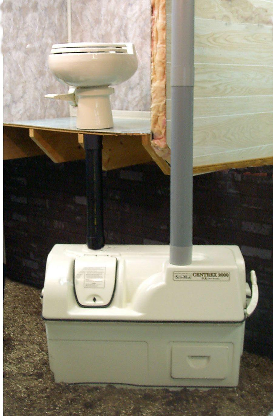 SunMar, Composting Toilet, Central Flush System Odor