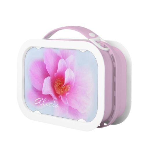 Pink wild rose beauty lunch boxes