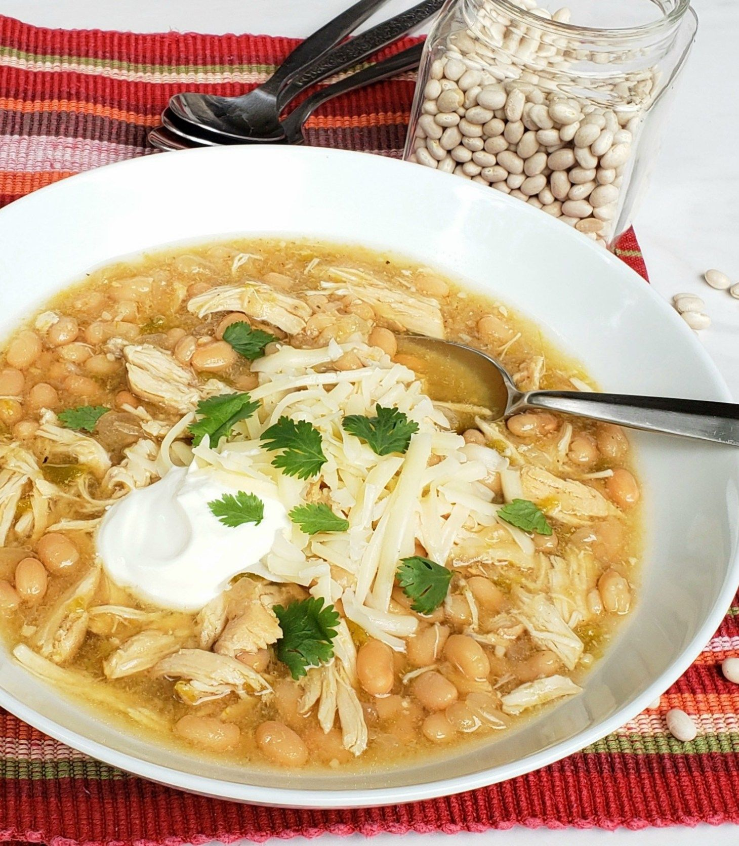 Instant Pot White Bean And Chicken Chili Dump And Start Recipe Made With Dried Beans Grits And Gouda Recipe White Bean Chicken Chili Dry Beans Recipe Chicken Chili