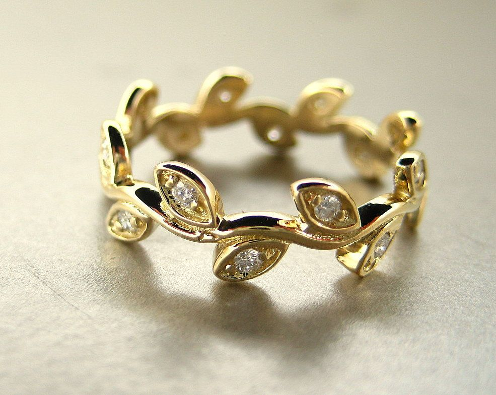 diamond ken gold inspired rose prongs nature unique products pembroke dana ring leaf f rings engagement prong