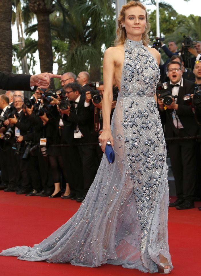 Diane Kruger in Glamorous Embellished Prada Halter Gown   Diane ... 912fb1969d8