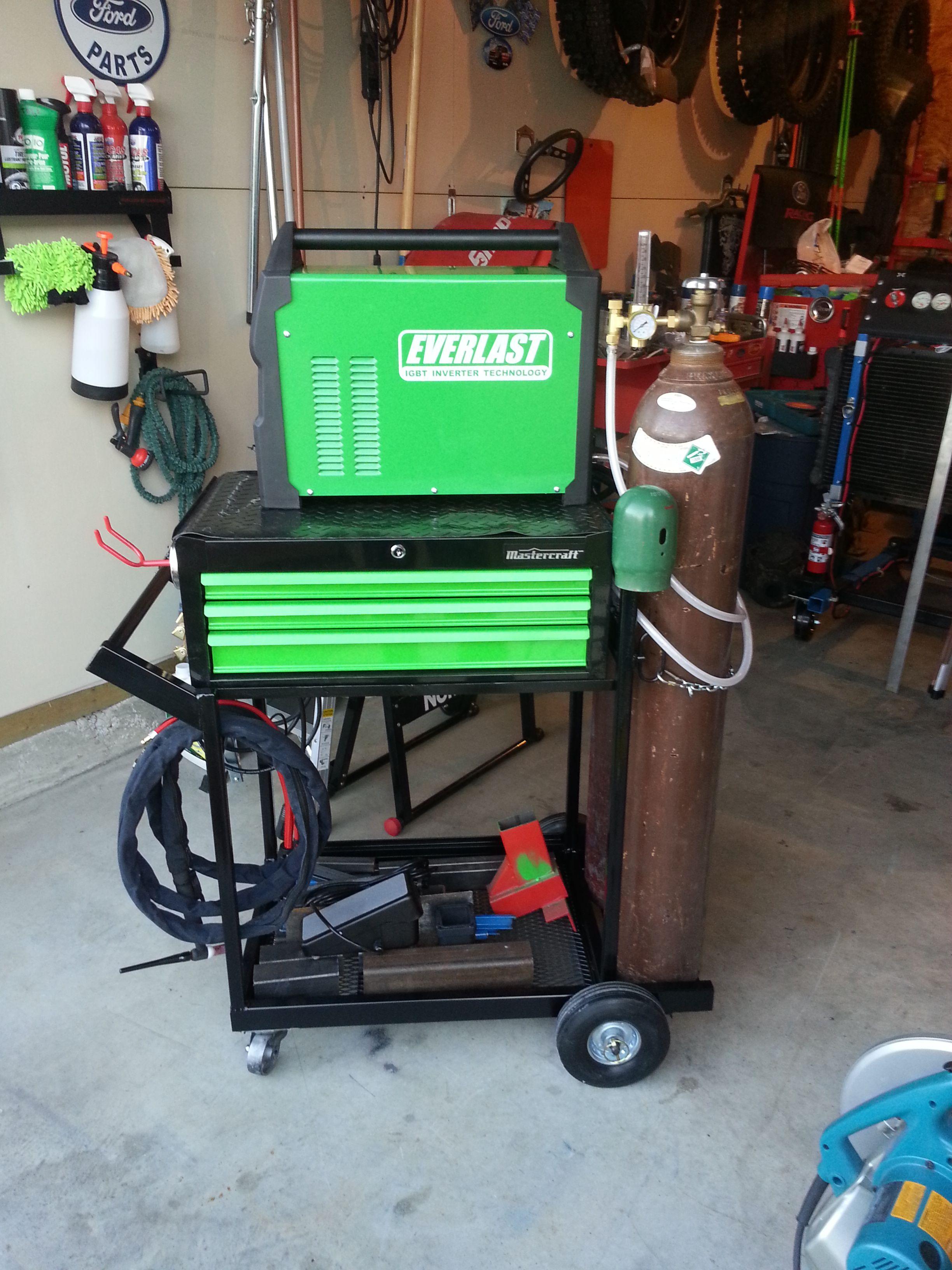 homebuilt welding cart that I built last week. I used