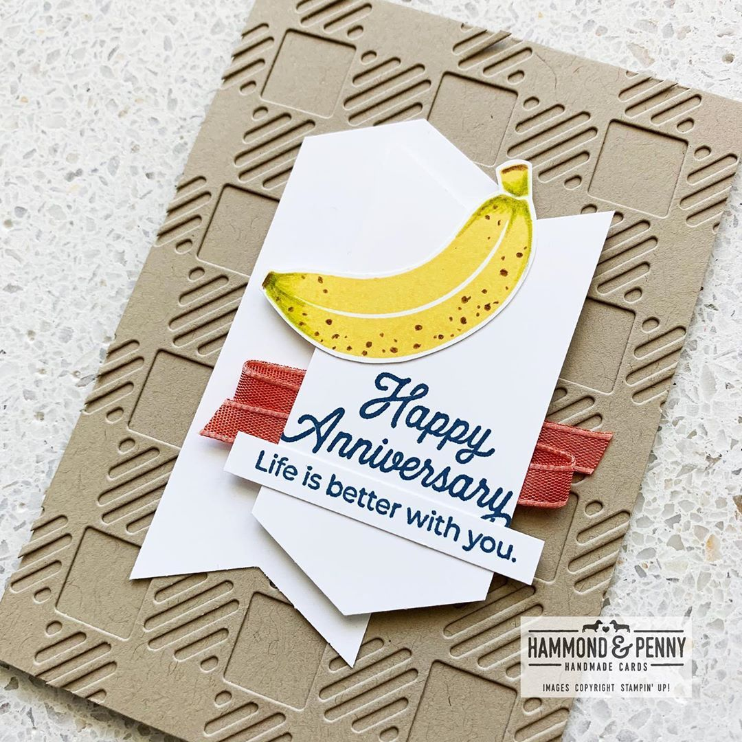 Hammond Penny Cards On Instagram One More Old Banana From Cute Fruit To Celebrate Growing Old Together I Used My Watercolor Pencils To Add The Bits Of Co