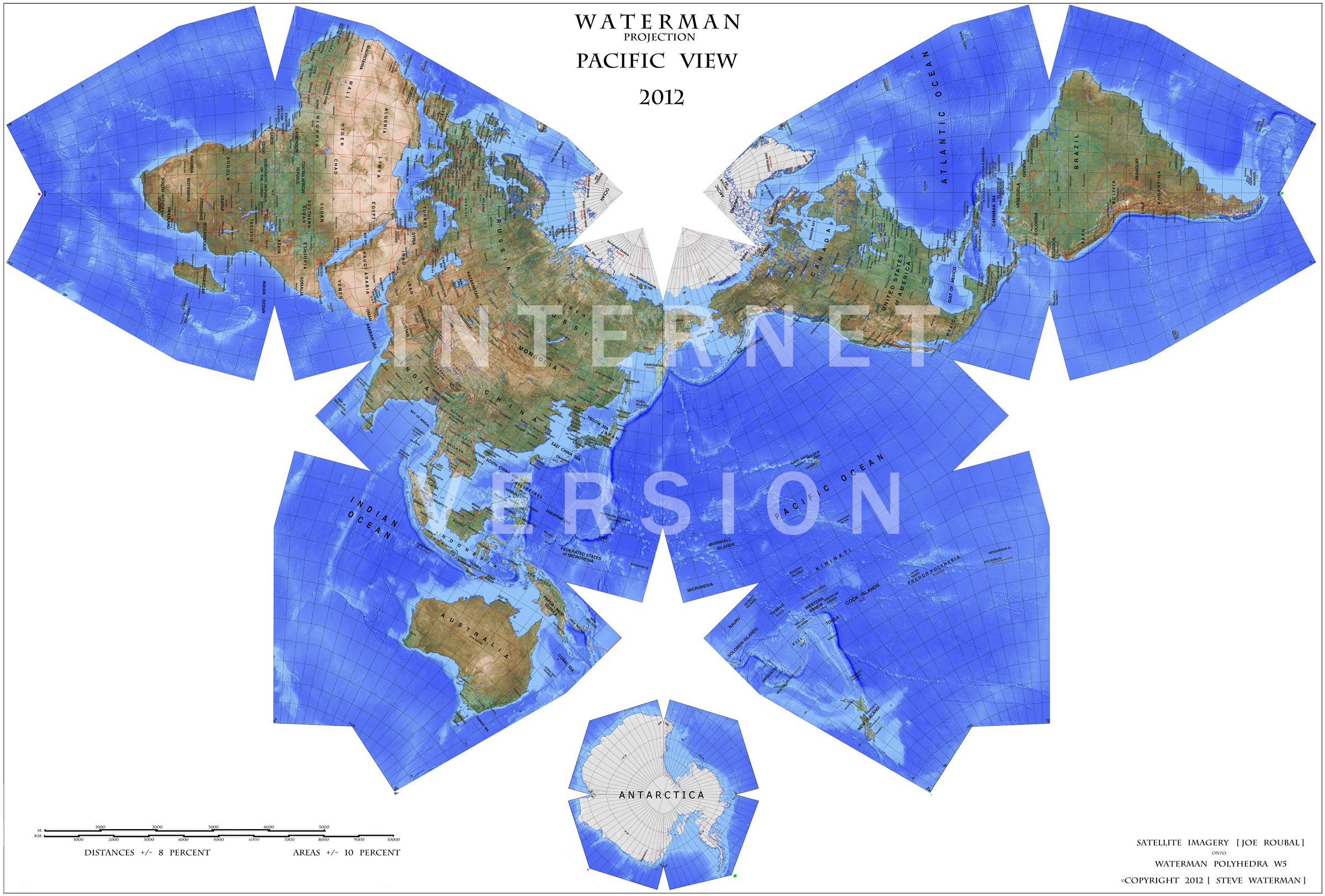 Waterman map probably the most accurate map of the world source purchase the beautiful waterman butterfly mapthe worlds most accurate map projection a free bonus map with every map purchase gumiabroncs Images