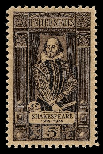 '5c William Shakespeare Single', by the Bureau of Engraving and Printing http://ids.si.edu/ids/deliveryService?max=500&id=http://sirismm.si.edu/npm/1980_2493_5486.jpg