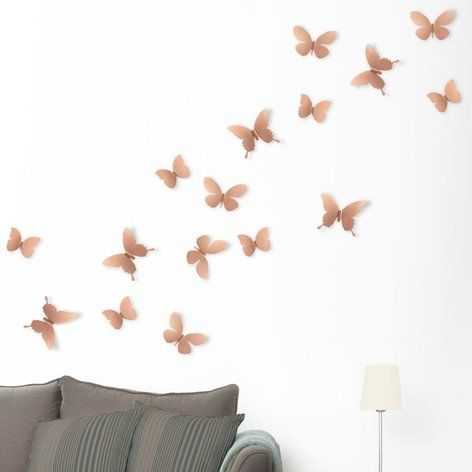 Umbra Copper Mariposa Butterfly Wall Display At Lisaangel Co Uk