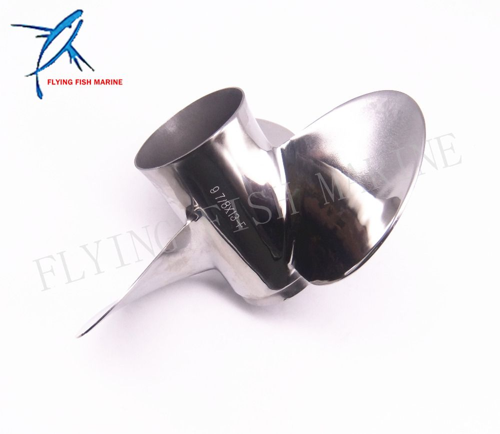 Outboard Engine Stainless Steel Propeller 9 7/8x13-F for