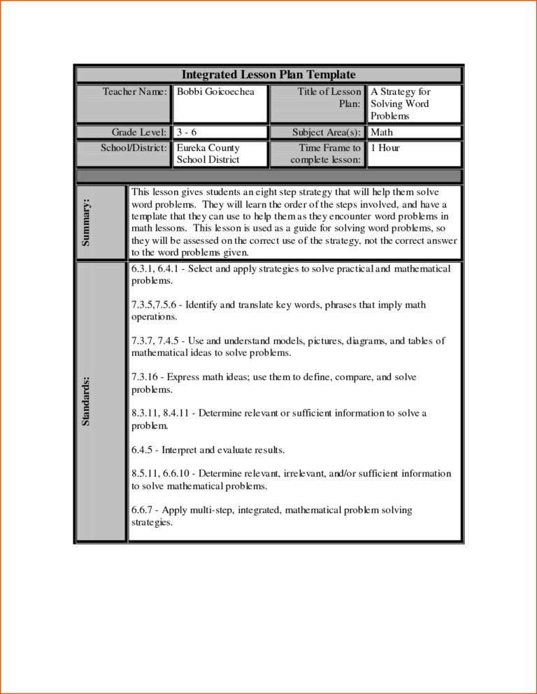 013 Word Lesson Plan Template Formidable Ideas Free Weekly Regarding Madeline Hunter Lesson Lesson Plan Templates Math Lesson Plans Math Lesson Plans Template