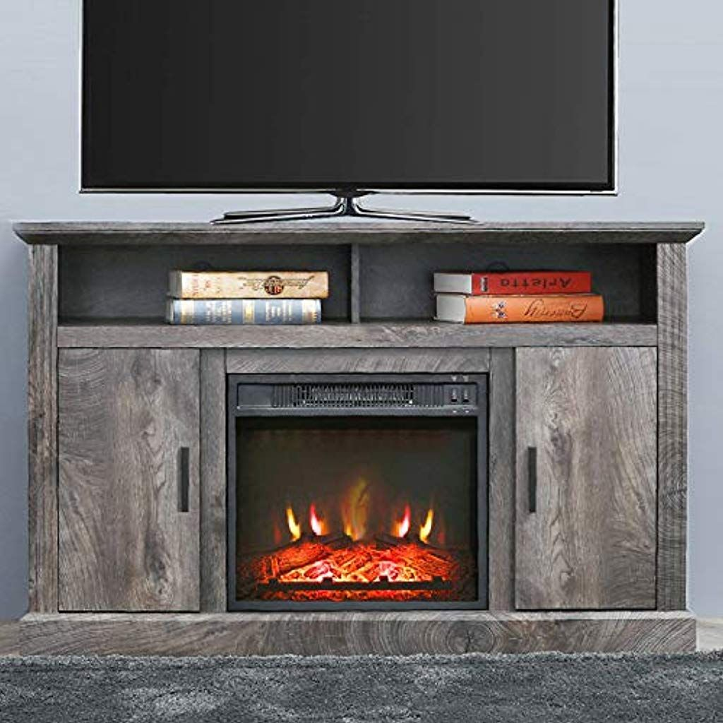 Top Space Electric Fireplace Tv Stand Entertainment Center Corner