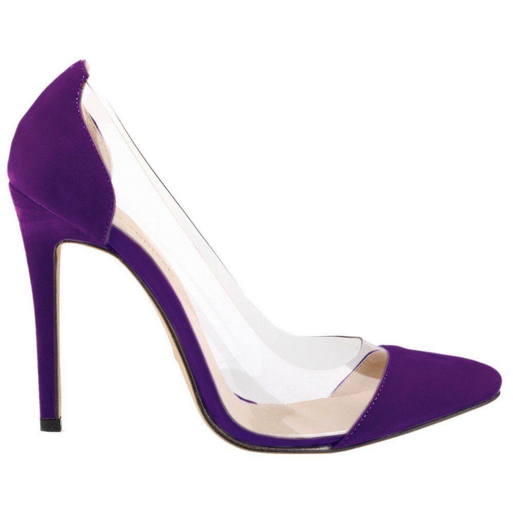 66ae798732c Loslandifen Womens Closed Toe High Heels Pointed Slender Stiletto Pumps(302 -27VE40