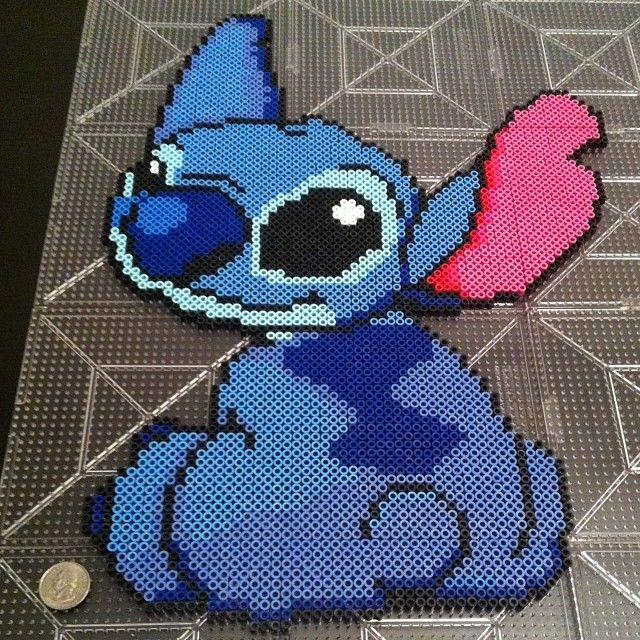 Disney Stitch Perler Beads By Mrsjennyg Craft Ideas Perler Beads