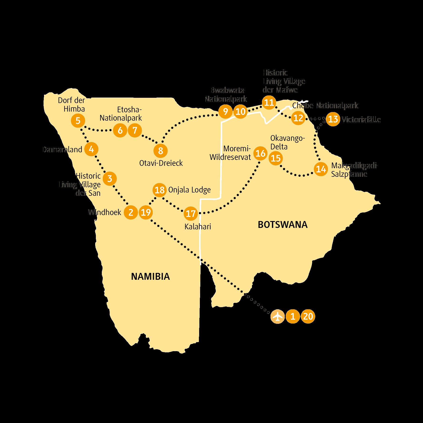 Namibia Und Botwana Auf Einer Unvergesslichen Reise Mit Chamaleon Wunderwelten Reise Sambesi 20 Tage Kleingruppenreise Mit M Botswana Namibia Reisen Namibia