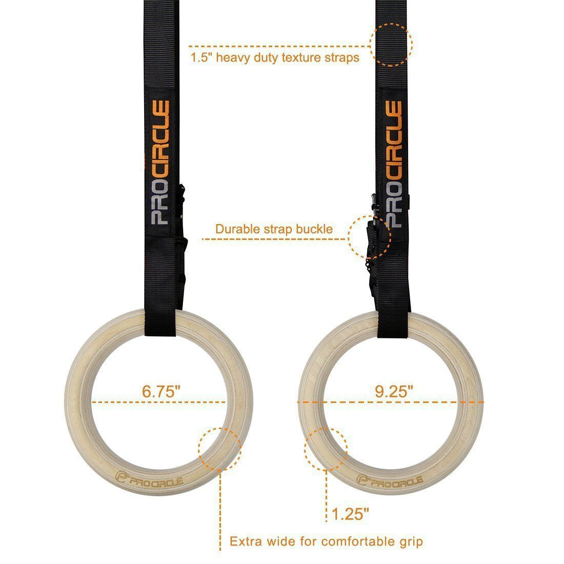 Procircle Gymnatic Olympic Rings Crossfit Trainig Rings Gym Rings Gymnastic Rings Gym