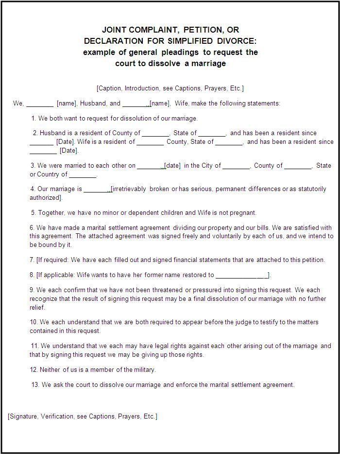 Divorce Forms Free Word Templates - legal divorce papers Divorce