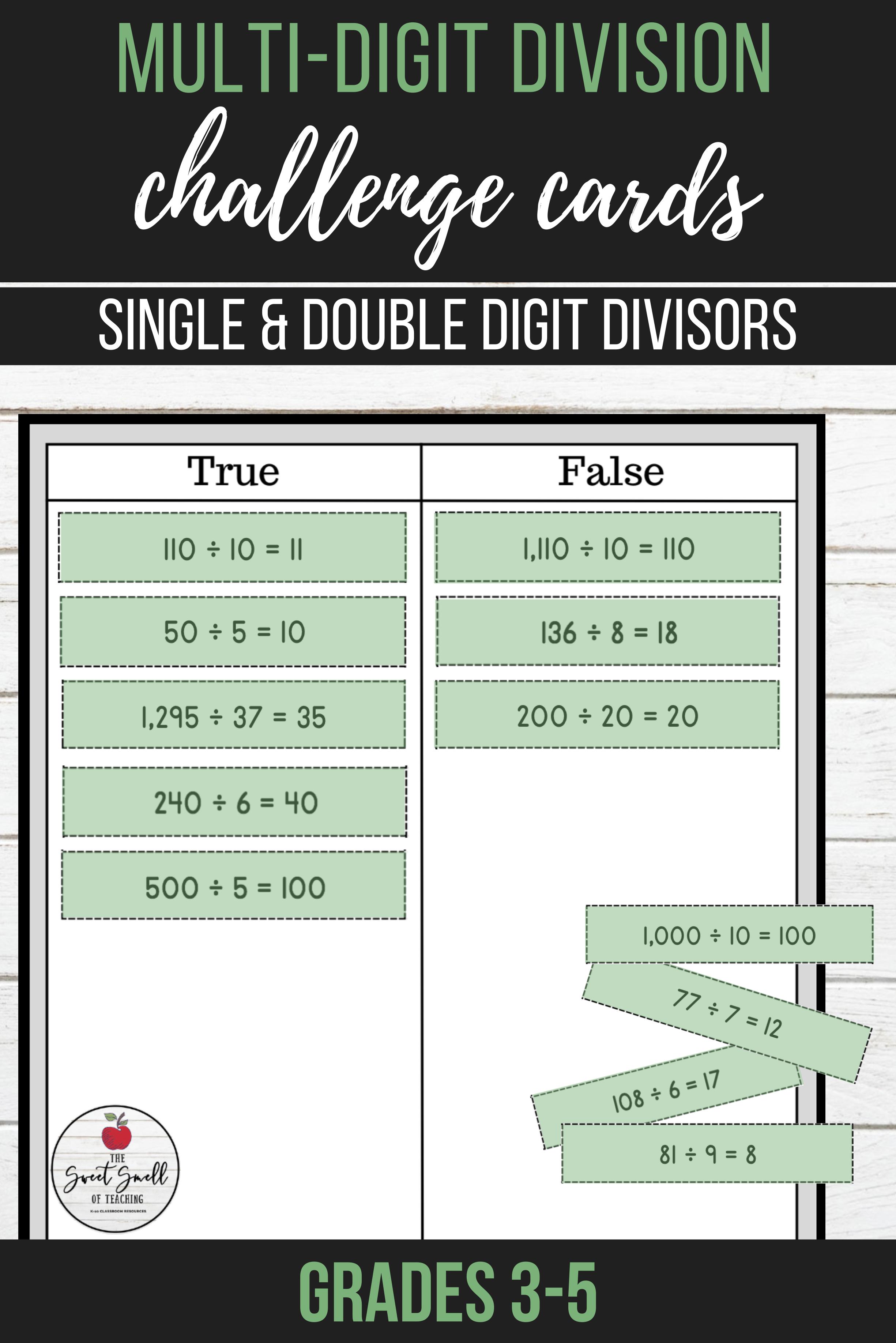 Multi Digit Division