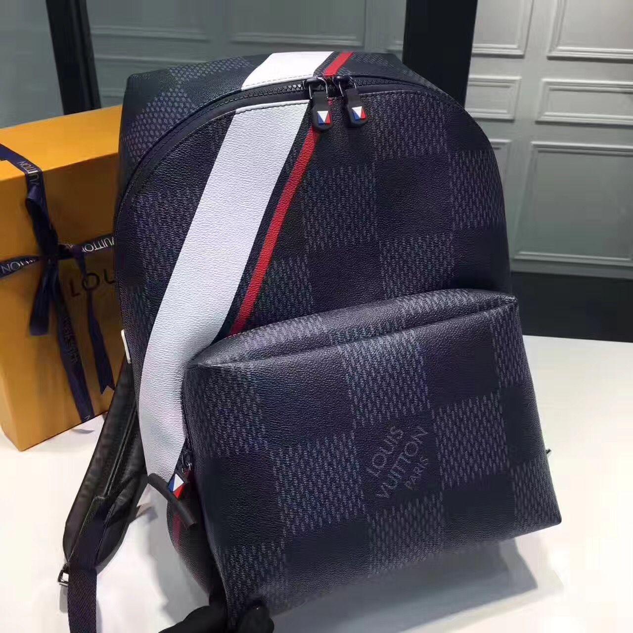 2f31fca1a4 Louis Vuitton lv man backpack shoulders bag original leather