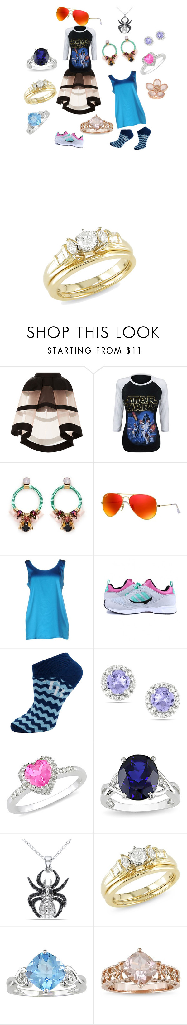 """""""fabiluse"""" by jacksepticfan ❤ liked on Polyvore featuring Delpozo, J.Crew, Ray-Ban, P.A.R.O.S.H., adidas Originals, For Bare Feet, Ice, women's clothing, women's fashion and women"""