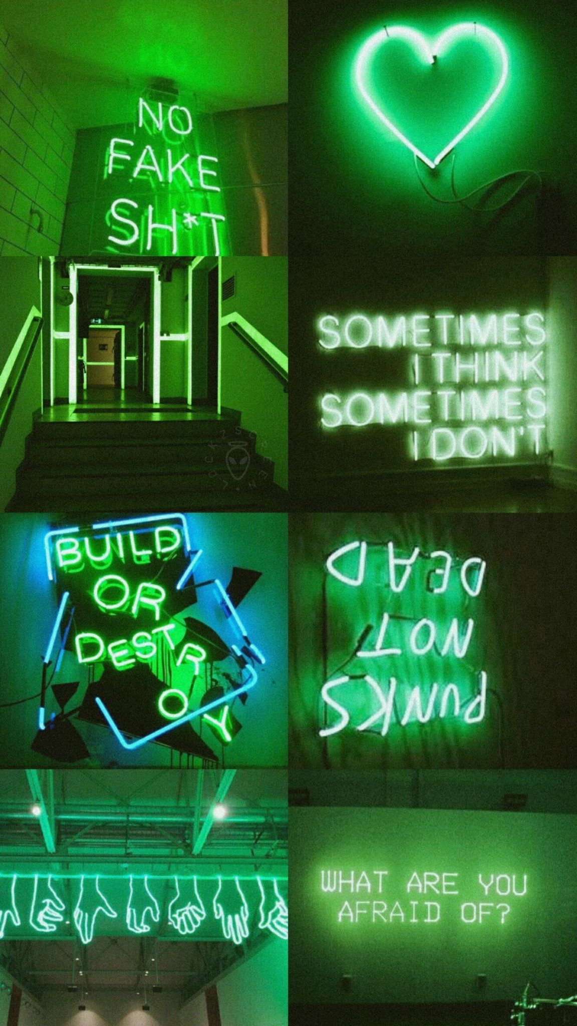 Pin oleh christina kirkendall di neon |  Estetika hijau ...