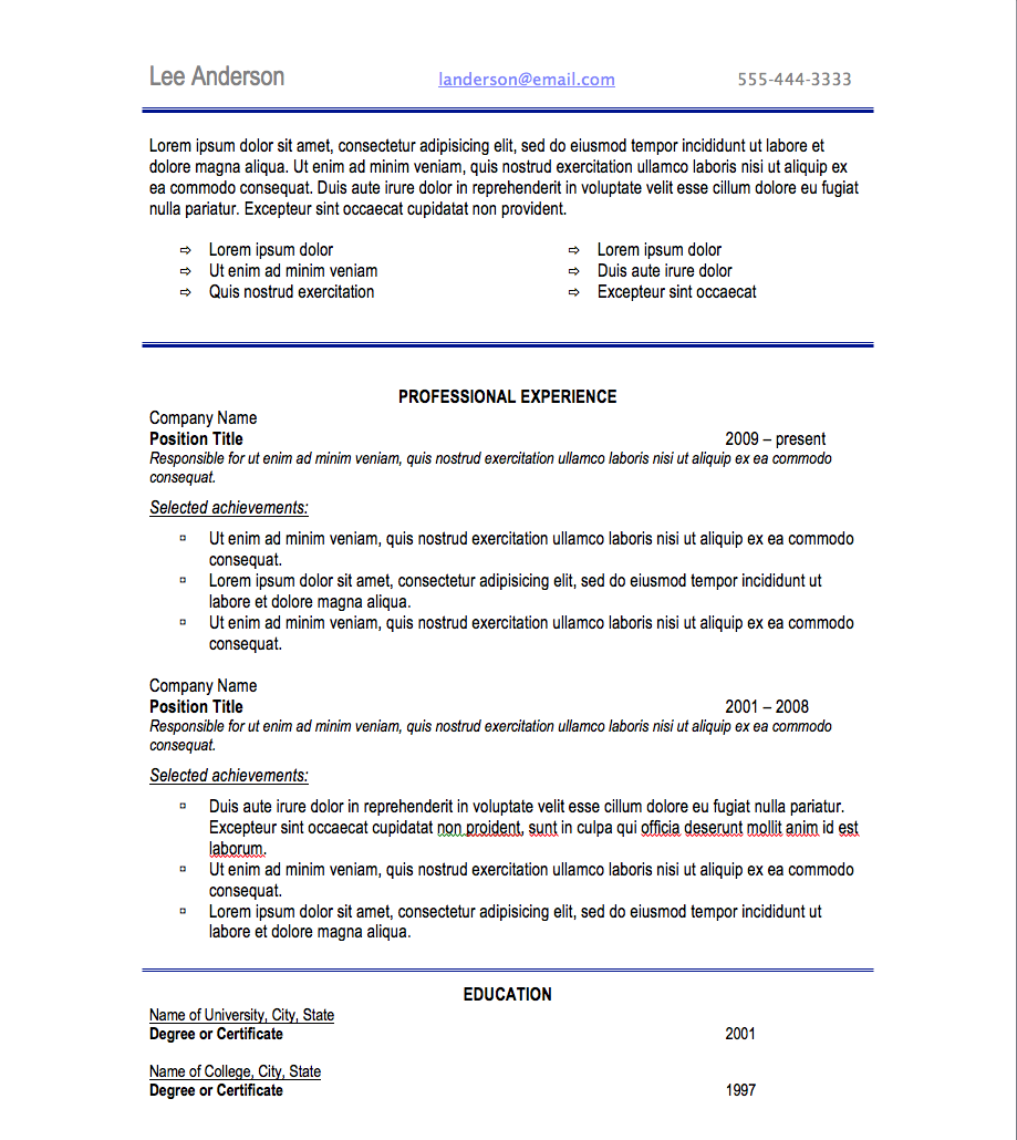 Best Resume Font Style And Size