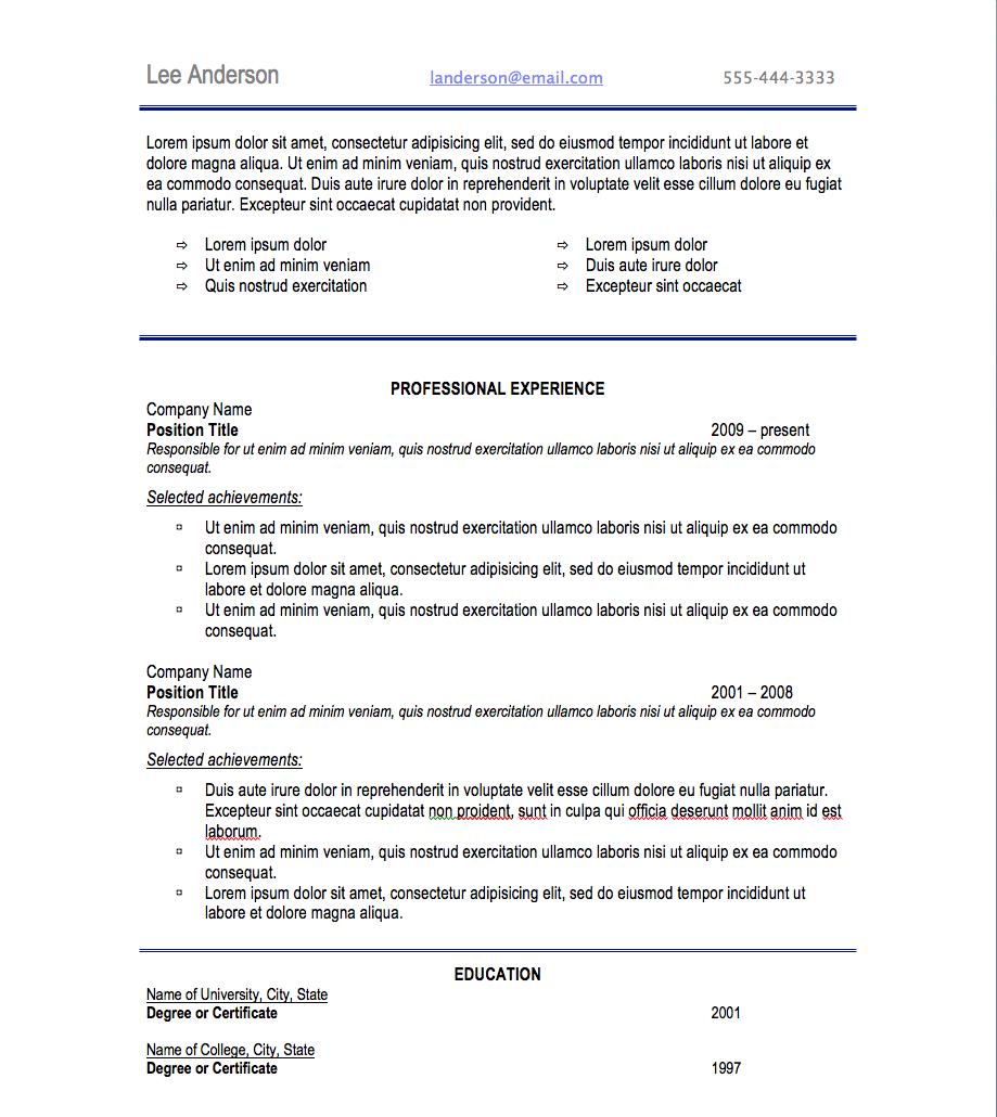 Resume Format Letter Size Resume fonts, Resume format
