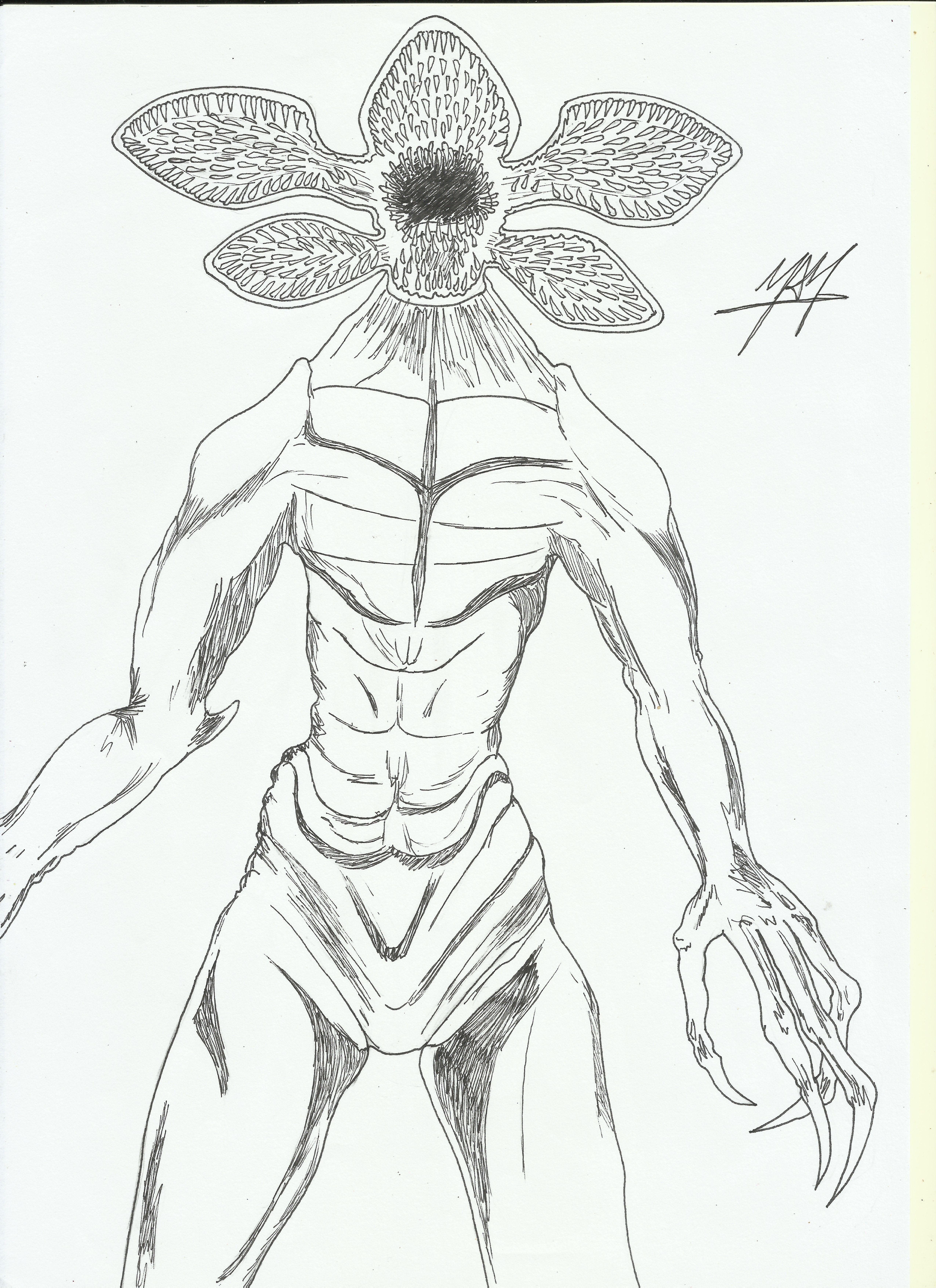 My Sketch Of Demogorgon Form Stranger Things Series Demogorgon