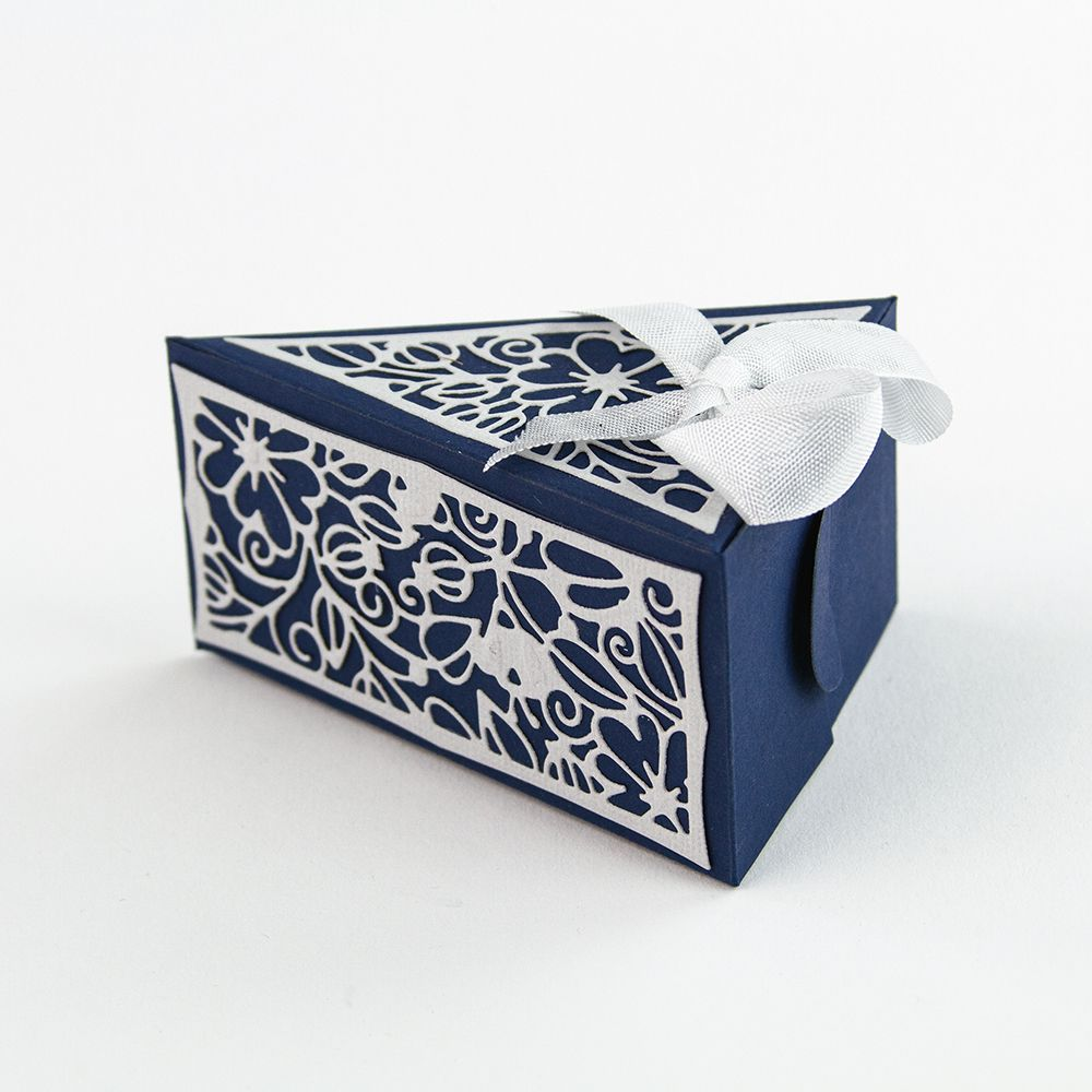 Decorative Boxes Uk Dimensions  Cake Slice Box Die Set  1650E  Tonic Studios Uk