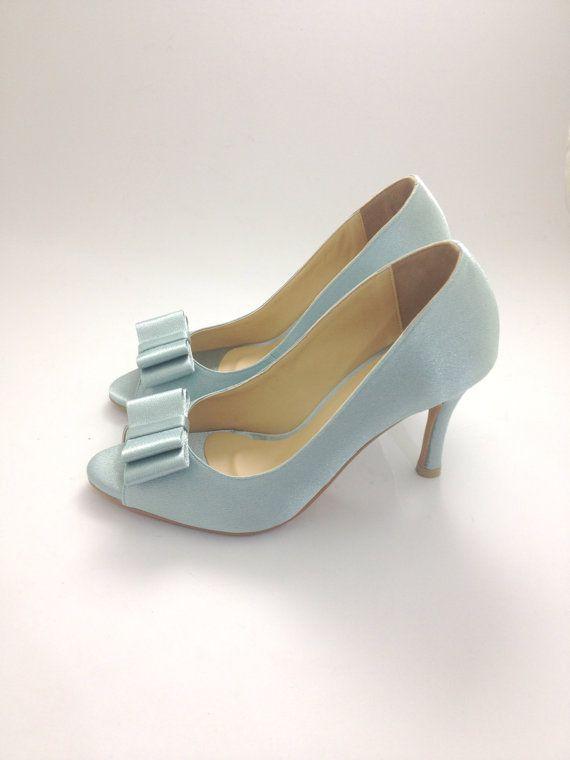 Something Blue Wedding Shoes Powder