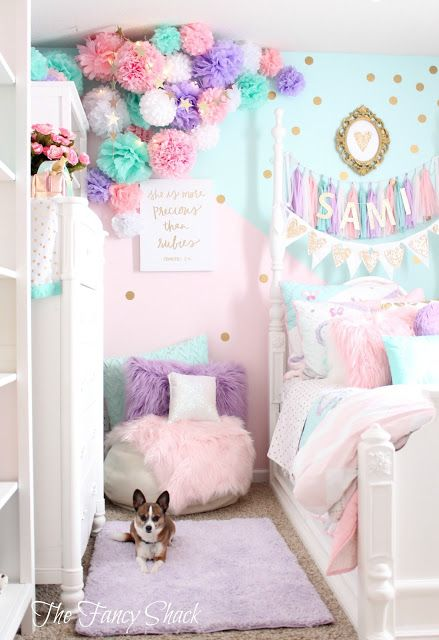 Sami says ag the fancy shack girls pastel bedroom room for Fancy girl bedroom ideas
