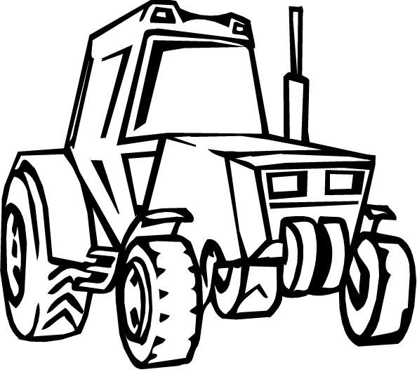 Картинка трафарет трактор
