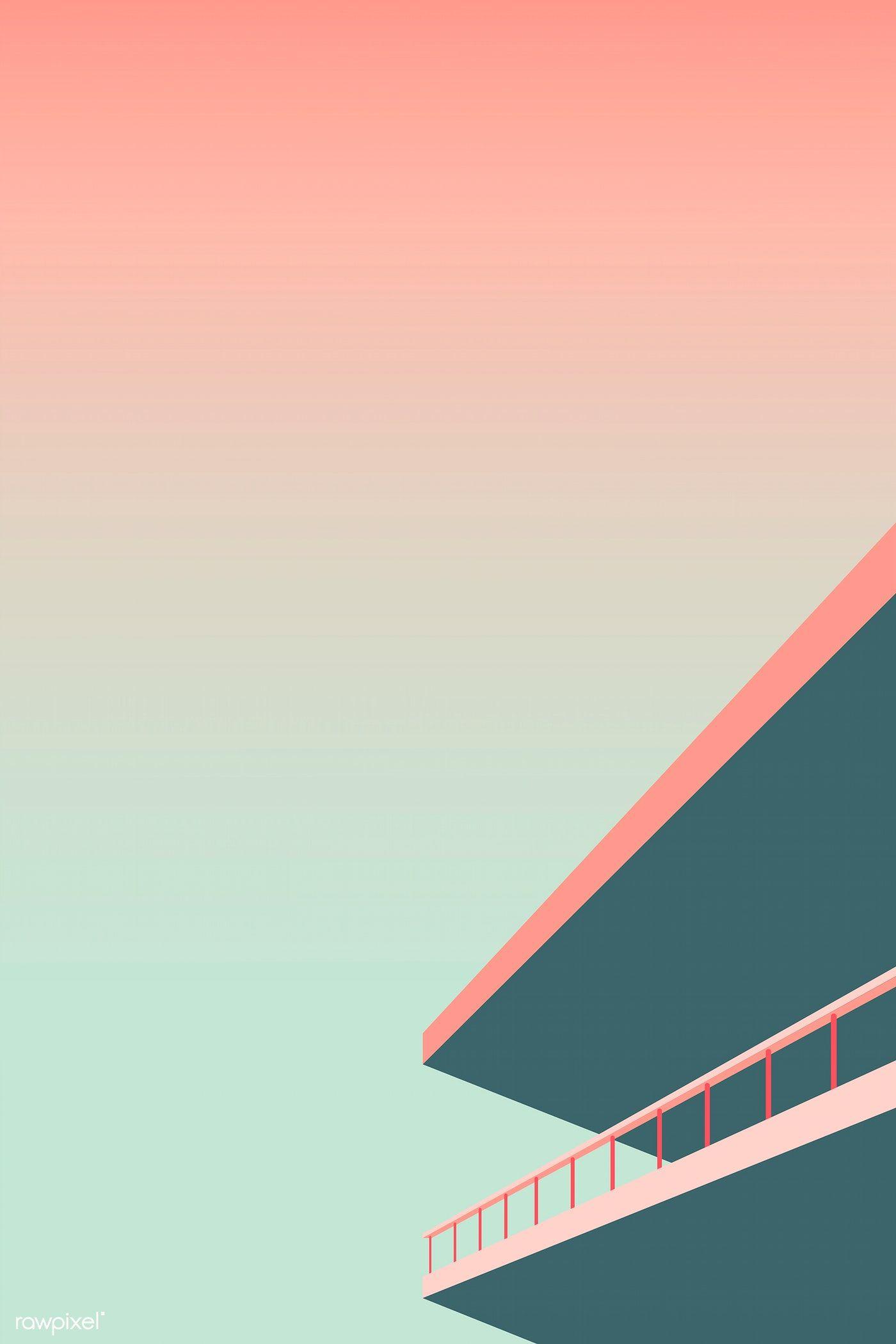 Download Premium Vector Of Minimal Fenced Roof Design Vector 1218344 Background Design Vector Minimal Wallpaper Scenery Wallpaper