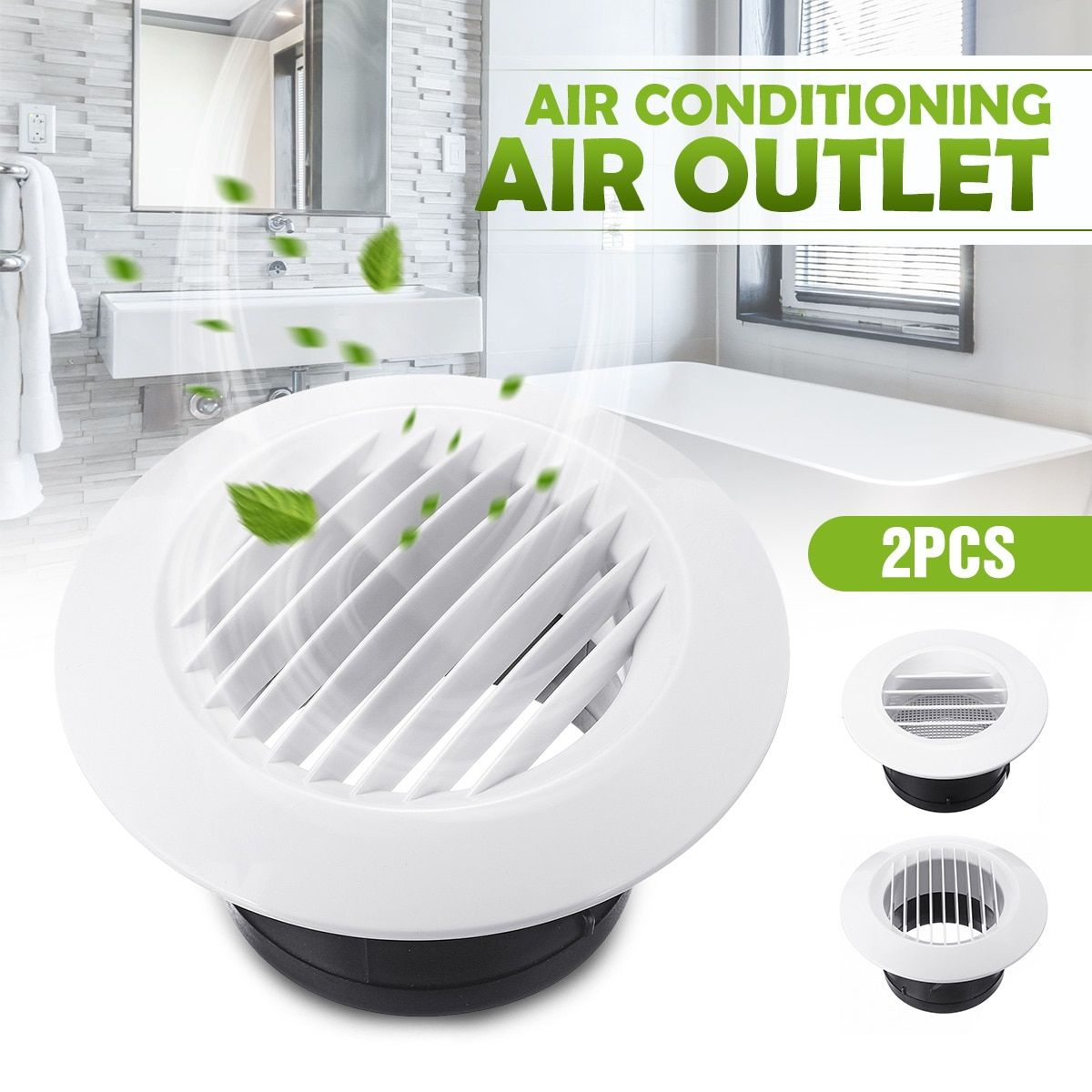 "1Pair 4"" Ventilation Oblique/Straight Grille Home Exhaust"